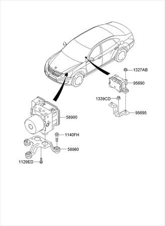 2005 Ford Explorer Yaw Rate Sensor Location