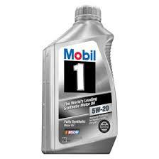 MOBILE 1 SYNTHETIC OIL 5W20  (BOX OF 6 ) 1 QUART BOTTL;ES