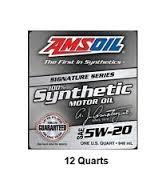 Amsoil 5w-20 SIgnature Series 100% synthetic oil (12quarts) 25k mile oil change