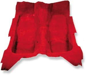 Ford Mustang Coupe ('65-'68) Molded Car Carpet [Maroon, Pile]