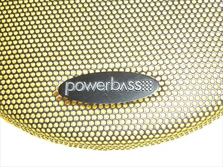 NEW 4 PIECE ORIGINAL POWERBASS SPEAKER COVERS BLACK METAL 7-1/8