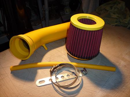 NEW 92-95 CIVIC CX DX LX EX SI COLD AIR INTAKE KIT + YELLOW & RED FILTER