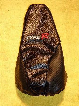CARBON FIBER LOOK TYPE R BLACK SHIFT BOOT FOR SHIFT GEAR COVER FLOOR SHIFTER