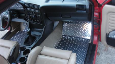 bmw e30 e36 interior metal floor plate mats custom shaped set 24925679. Black Bedroom Furniture Sets. Home Design Ideas