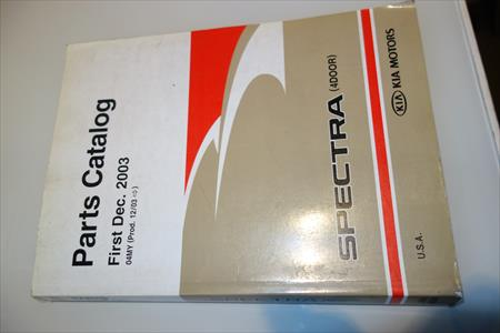 2003 TO 2004 KIA SPECTRA  PARTS CATALOG P/N USAK2F003A
