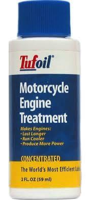Tufoil motorcycle engine treatment