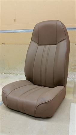 Jeep Cherokee Wrangler Offroad Replacement Brown Vinyl <em>Seat</em> 1987-2006 Excellent