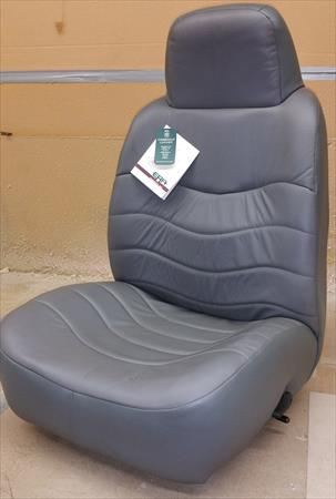 ERA Reclining Gray Leather Bucket <em>Seat</em> Replacement Ford Chevy GMC Truck Van Auto