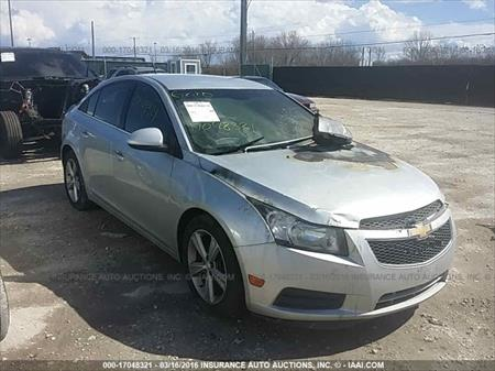 2012 Chevy Cruze 2LT Silver 17 Wheels