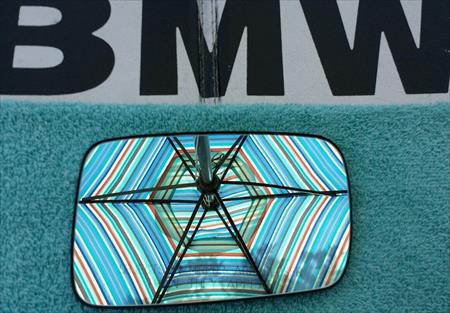 98-06 BMW 325ci OEM RIGHT Side Mirror Glass coupe E46 blue Tinted Heat 413322454 41-3322-454 41-3322-454