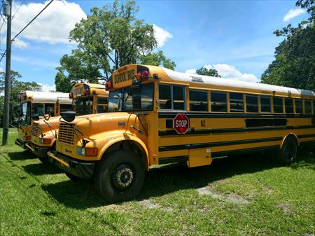 3 used  school buses 1 1998 2 1999 low milage(8000)