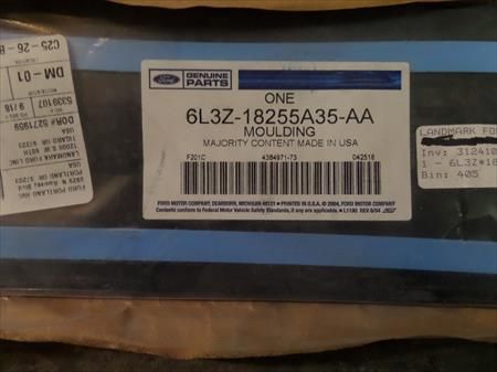 New OEM Ford Upper Moulding Applique   #6L3Z-18255A35-AA    '07-'14 Ford F150 6L3Z-18255A35-AA