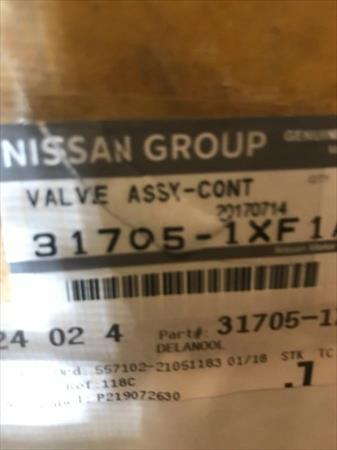 Nissan Valve assy-control Match Part# 317051XF1A New OEM Altima Sentra Rogue
